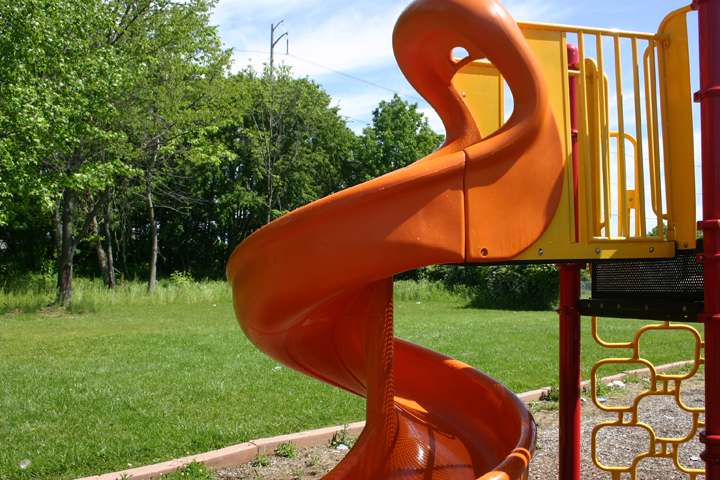 Graffiti Removed from Play Ground slide.